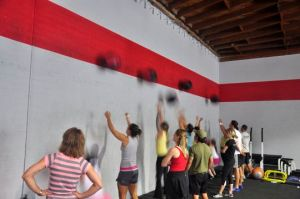 This is what a wall ball workout looks like