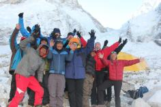 The whole group at Base Camp