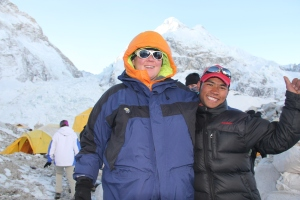 Mane Sherpa dn I at Base Camp
