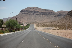 Fort Apache Road. Suburbs on the east, Wilds on the west.