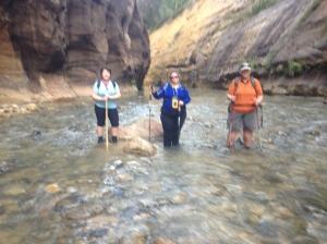 The Three Amigos at Zion 2013 doing the Narrow.