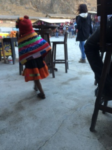 Little Girl in Ollantaytambo market.