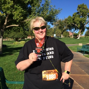 With My Finisher's Medal From Pumpkinman 5k 2015!